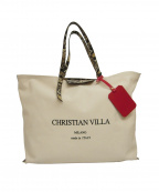 CHRISTIAN VILLA(クリスチャンヴィラ)の古着「キャンバストートバッグ」|ベージュ