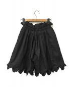 CECILIE BAHNSEN(セシリー バンセン)の古着「ショートパンツ」|ブラック