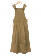()の古着「タックフレアジャンパースカート」 ブラウン