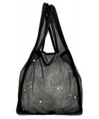 ()の古着「チュールバッグ」|ブラック