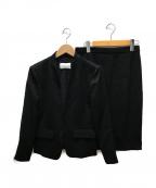 Pinky & Dianne()の古着「トリアセ綾二重スカートスーツ」|ブラック
