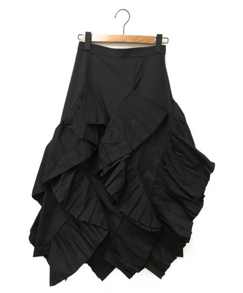 ENFOLD(エンフォルド)ENFOLD (エンフォルド) スカート ブラック サイズ:36 未使用品の古着・服飾アイテム
