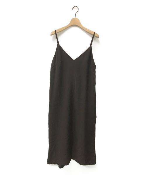 JUSGLITTY(ジャスグリッティー)JUSGLITTY (ジャスグリッティー) キャミソールワンピース ブラウン サイズ:1の古着・服飾アイテム