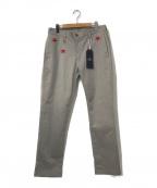 whiz limited(ウィズリミテッド)の古着「スター刺繍ワークパンツ」 ベージュ