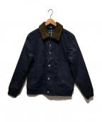 whiz limited(ウィズリミテッド)の古着「ボアカラージャケット」 ネイビー