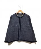 whiz limited(ウィズリミテッド)の古着「ノーカラージャケット」 ネイビー