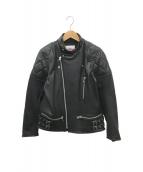 ()の古着「ダブルライダースジャケット」|ブラック