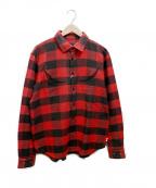 whiz limited(ウィズリミテッド)の古着「ガーゼチェックシャツ」 レッド