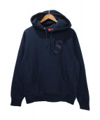 ()の古着「Tonal S logo Hooded sweatshirt」|ネイビー