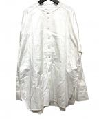 CITYSHOP(シティショップ)の古着「バンドカラーシャツ」|ホワイト