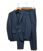 ()の古着「メランジトロピカル2ボタンセットアップ」 ブルー