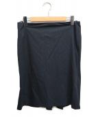 ()の古着「ストライプスカート」|ブラック