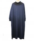 HUMAN WOMAN(ヒューマンウーマン)の古着「ストレッチポンチワンピース」|ネイビー
