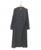 HUMAN WOMAN(ヒューマンウーマン)の古着「シフォンプリントワンピース」|ブラック