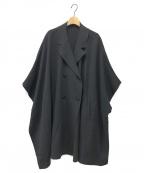 HUMAN WOMAN(ヒューマンウーマン)の古着「リバーコート」|ネイビー