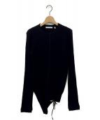 ()の古着「アシンメトリーカットソー」|ブラック