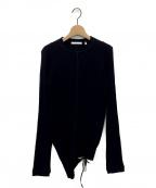 HELMUT LANG(ヘルムートラング)の古着「アシンメトリーカットソー」|ブラック