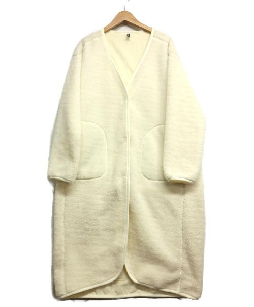 DANSKIN(ダンスキン)DANSKIN (ダンスキン) マイルフリースコート ホワイト サイズ:Lの古着・服飾アイテム