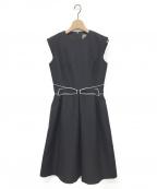 daisy lin for foxey(デイジーリンフォクシー)の古着「ホワイトクリスタルドレス」|ブラック