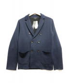 ()の古着「ダブルフロントニットジャケット」|ネイビー