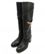 SARTORE(サルトル)の古着「ベルト付ブーツ」|ブラック
