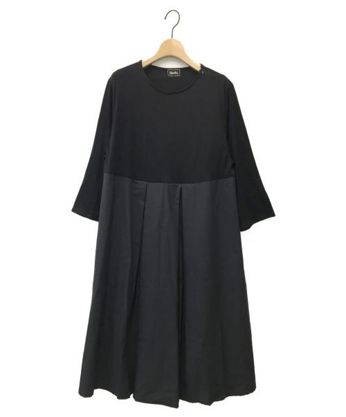 Mochi(モチ)Mochi (モチ) flare sleeve dress ブラック サイズ:1の古着・服飾アイテム