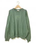 Burberrys()の古着「[OLD]フロントホースロゴ編み柄ニット」 グリーン