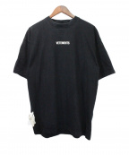 VETEMENTS(ヴェトモン)の古着「19AW LOGO T-SHIRTS」|ブラック