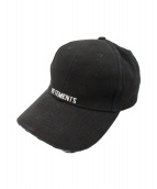 ()の古着「Embroidered Baseball Cap」|ブラック