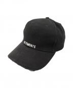 VETEMENTS(ヴェトモン)の古着「Embroidered Baseball Cap」|ブラック
