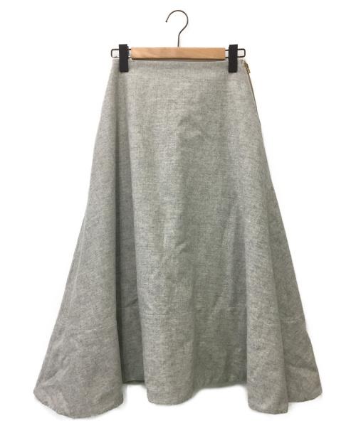 MADISON BLUE(マディソンブルー)MADISON BLUE (マディソンブルー) ウールフレアスカート グレー サイズ:01の古着・服飾アイテム