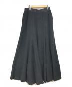RAY BEAMS(レイ ビームス)の古着「パッチワークジャカードスカート」|ブラック