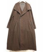 ()の古着「ドビーテントガウンコート」|ブラウン