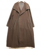 LOEFF(ロエフ)の古着「ドビーテントガウンコート」 ブラウン