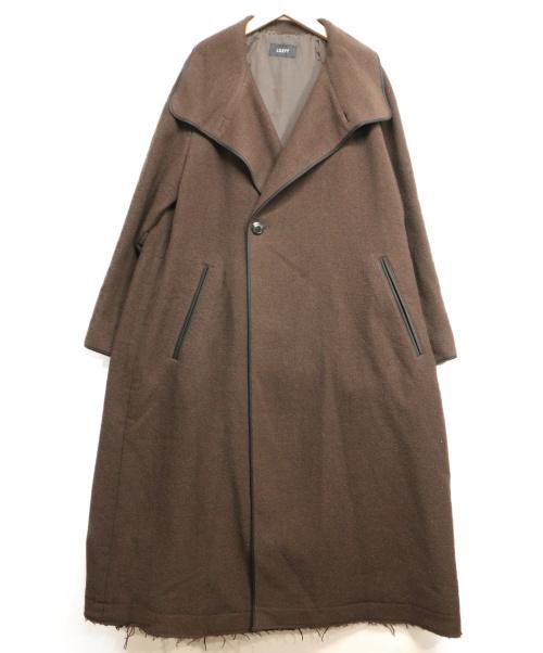 LOEFF(ロエフ)LOEFF (ロエフ) ドビーテントガウンコート ブラウン サイズ:1の古着・服飾アイテム