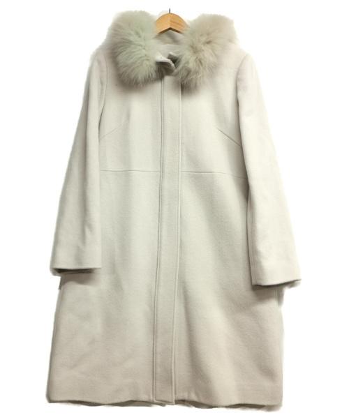 Swingle(スウィングル)Swingle (スウィングル) FOXファーフードジップコート グレー サイズ:Sの古着・服飾アイテム