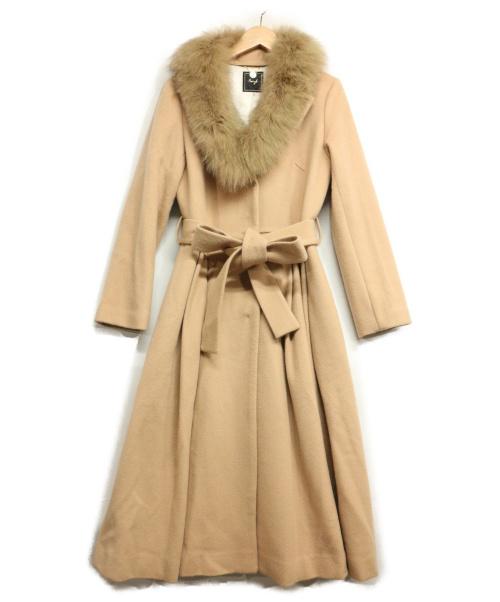 Swingle(スウィングル)Swingle (スウィングル) FOXファーカラーコート キャメル サイズ:Sの古着・服飾アイテム