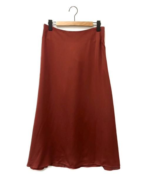 ebure(エブール)ebure (エブール) フレアロングスカート レッド サイズ:38の古着・服飾アイテム
