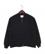 STILL BY HAND(スティルバイハンド)の古着「ビーバーシンサレートリブブルゾン」 ブラック