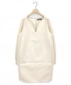 LORO PIANA(ロロピアーナ)の古着「カシミヤ異素材ワンピース」 アイボリー