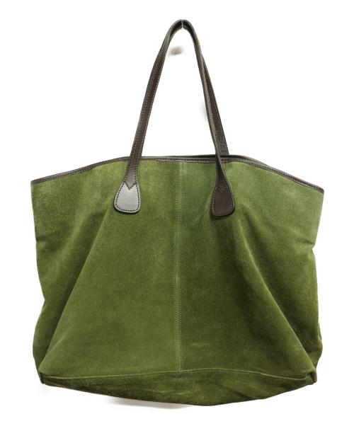 TUSTING(タスティング)TUSTING (タスティング) スエードトートバッグ グリーンの古着・服飾アイテム