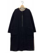 HARRISS GRACE(ハリス グレイス)の古着「カシミヤリバーシブルノーカラーコート」