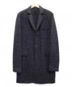 HARRIS WHARF LONDON(ハリスワーフロンドン)の古着「ヘリンボンチェスターコート」|ネイビー