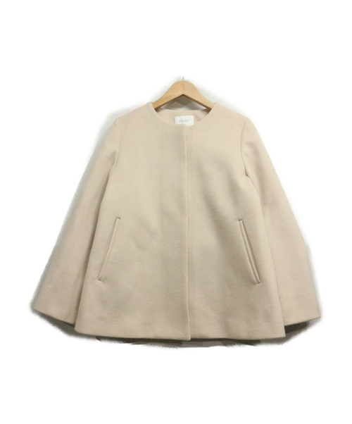 BEAUTY&YOUTH(ビューティアンドユース)BEAUTY&YOUTH (ビューティアンドユース) フレアノーカラーコート ベージュ サイズ:Mの古着・服飾アイテム