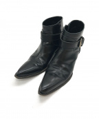 JUNYA WATANABE COMME des GARCON(ジュンヤワタナベ コムデギャルソン)の古着「アンクルベルトヒールショートブーツ」|ブラック