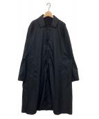 ()の古着「ビッグステンカラーコート」|ブラック