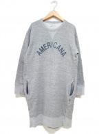 Americana(アメリカーナ)の古着「ロゴスウェットワンピース」|ライトグレー