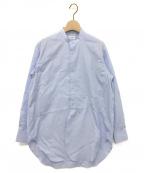 BLAMINK(ブラミンク)の古着「コットンバンドカラーシャツ」|ライトブルー