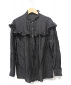 ()の古着「コットンシルクブラウス2」 ブラック
