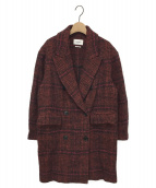ISABEL MARANT ETOILE(イザベルマランエトワール)の古着「EBRA ダブルブレスト ウール ジャケット」|レッド